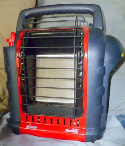 My Buddy Portable Heater. They're cheap, safe and easy to use. Highly Recommended!