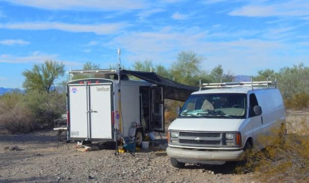 BLM land Quartzsite, Arizona