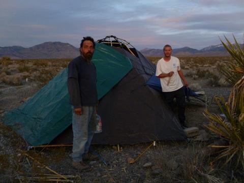 Cheap RV Living & Cheap RV Living.com-Tent Living in the Desert