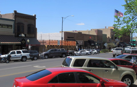 This is downtown Prescott, most of these buildings were built right at the turn of the century. It's a very lively, thriving, vibrant place.