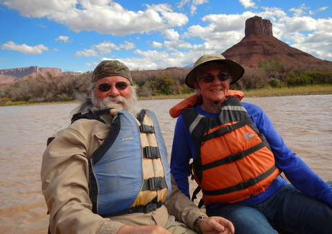 Judy and I enjoying the ride.