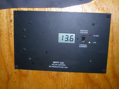 My solar controller has a read-out of the voltage of my battery. Here it is a very safe 13.6 volts