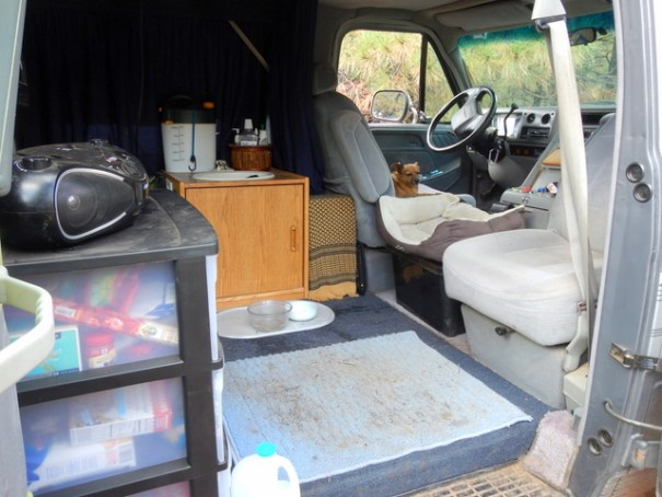 His van has a very open, inviting feel!