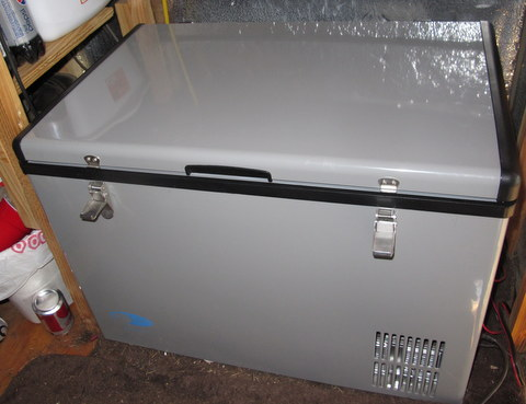 My new 65 Quart Whynter 12 volt compressor fridge. I love it! I'll give you a full review  later.