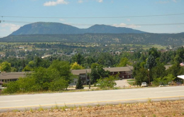 I took this photo of Spearfish from the freeway. I was camped up on the ridge-line just below the Black Hills.
