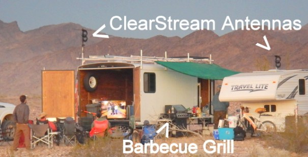Now this how you put on a Super Bowl party for 20 vandwellers in the middle of nowhere!
