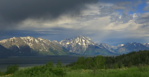 Mount Moran from my camp.