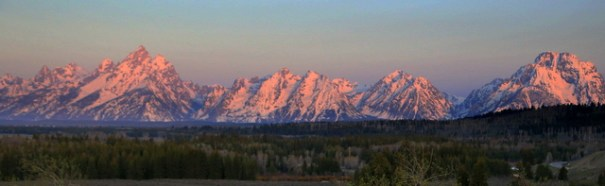 Alpenglow on the Tetons.