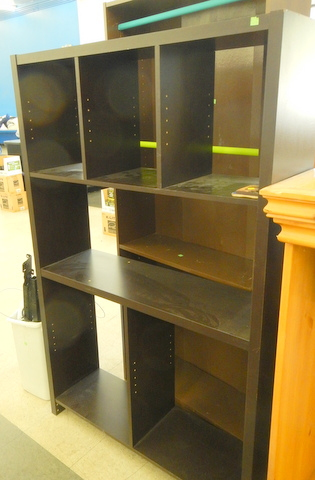 If you have a high-top van or a step or box van, they would work well. But for it to hold together you need to do some work.  If you put glued and screwed a piece of plywood into the back it would become very strong. You will also need to cut more shelves since most of them are missing.