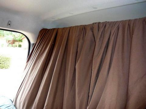 The finished curtain installed.
