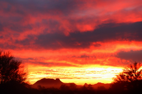 This was the sunset last week on my drive back from Yuma for dental. I just had to stop and take some shots!