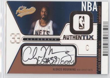 2003-04 Fleer Authentix Jersey Authentix Autographs All-Star #AJAAM - Alonzo Mourning/50 - Courtesy of CheckOutMyCards.com