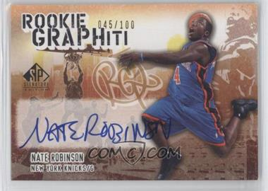 2005-06 SP Signature Edition Rookie GRAPHiti #NR - Nate Robinson/100 - Courtesy of CheckOutMyCards.com