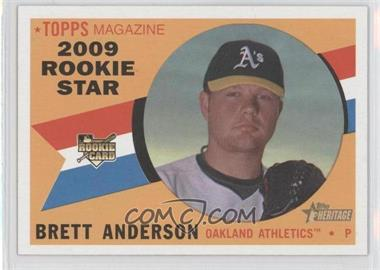 2009 Topps Heritage #692 - Brett Anderson SP RC (Rookie Card) - Courtesy of CheckOutMyCards.com