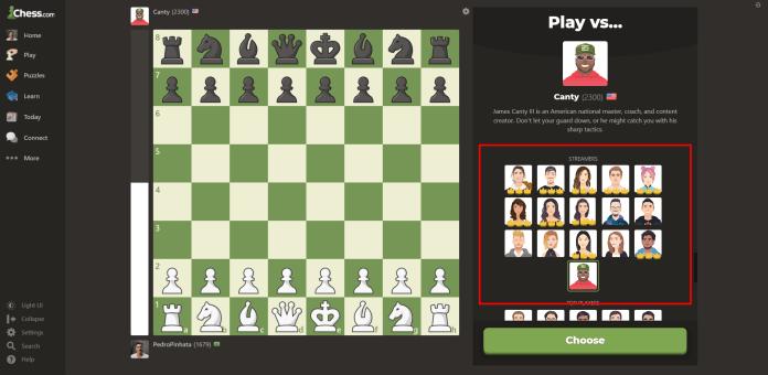 Luaj kundër kompjuterit Chess.com.