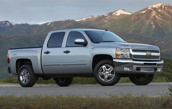 Chevrolet Silverado Hybrid Crew Cab Pickup,one of the 'Top 10 most expensive trucks of 2012'.