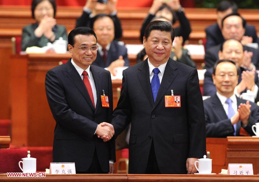 Image result for Xi Jinping, Li Keqiang, pictures