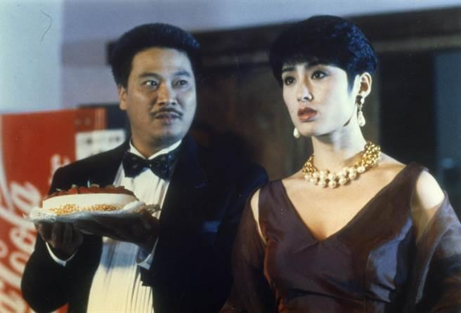 1992年02月01日/與龍共舞(電影)。吳孟達(左)、張敏。(圖/本報系資料照,學者提供)