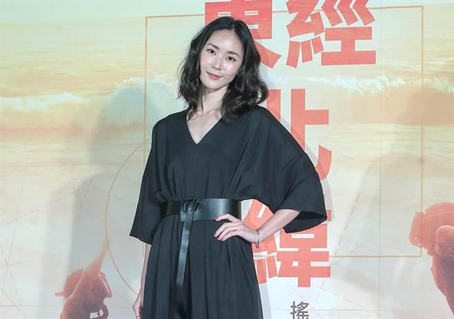 鍾瑶今出席電影首映會。(粘耿豪攝)