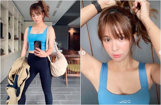 吳怡霈為練出臀部曲線,努力健身。(圖/翻攝自IG)