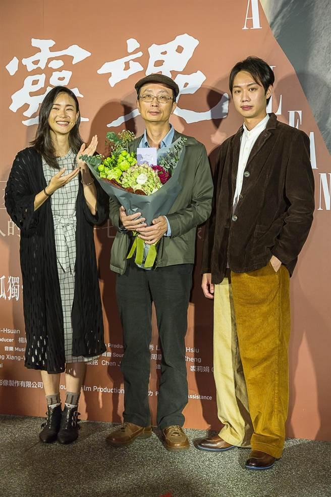 《削瘦的靈魂》鍾瑶、導演朱賢哲、安德森。(目宿媒體提供)