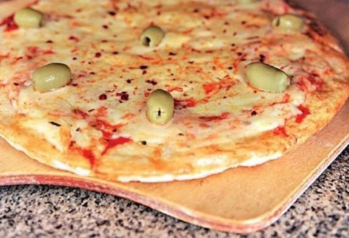 Receta de masa de pizza.