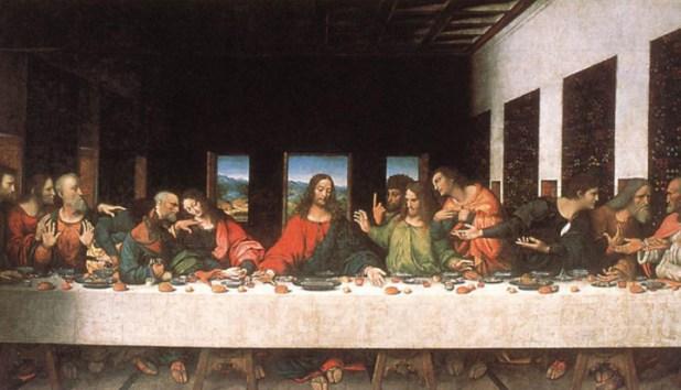 """""""La última cena"""" (1495-98), el famoso mural del artista italiano."""