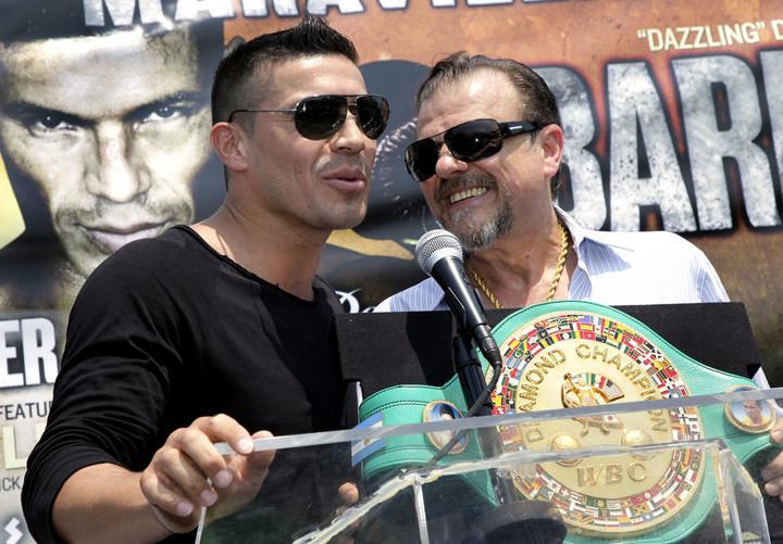 Sampson Lewkowicz junto a Sergio Maravilla Martínez.