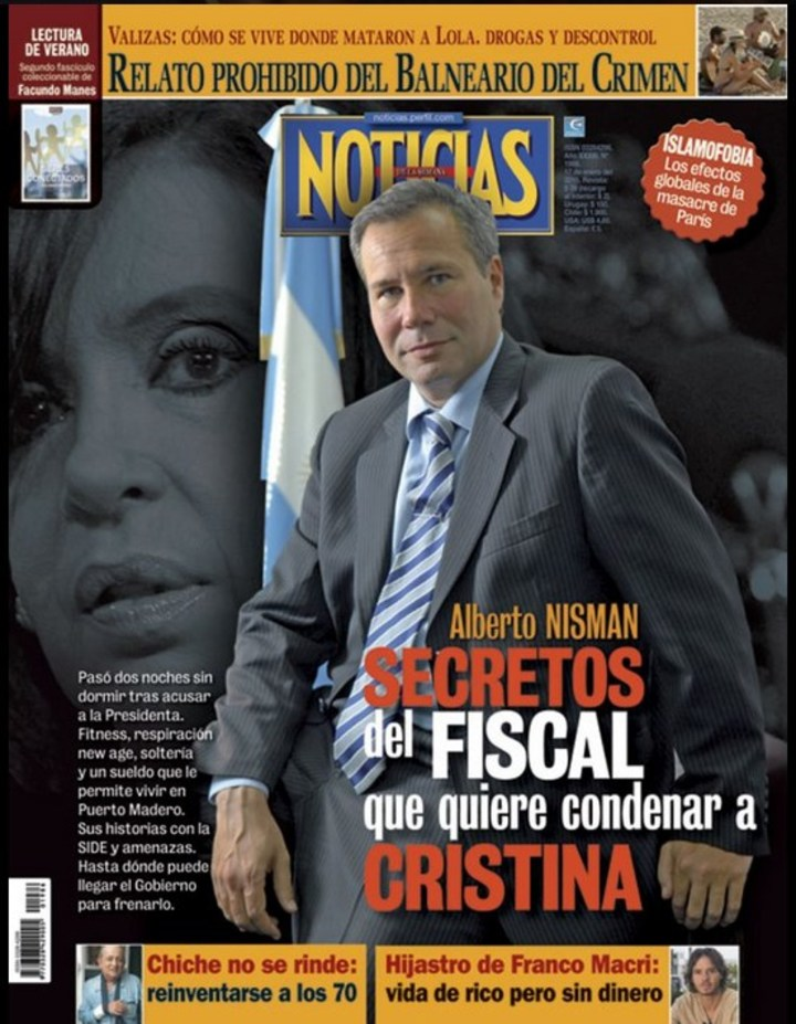 La Tapa de la Revista Noticias con el fiscal Nisman en la tapa.