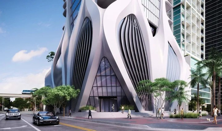 Posthumous Zaha. One Thousand Museum, the residential building projected by Zaha Hadid in Miami, currently under construction.
