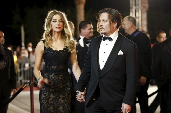johnny Depp and Amber Heard, when they were married.