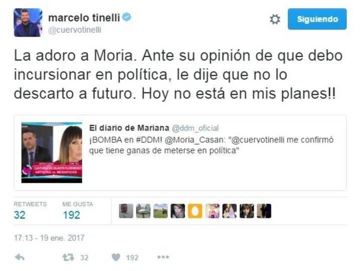 Marcelo Tinelli confesó que no descarta meterse en política: ¿futuro de presidente?