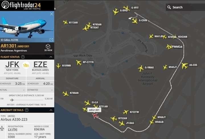 Una explosión en un avión de Aerolíneas en Nueva York obligó a abortar su despegue