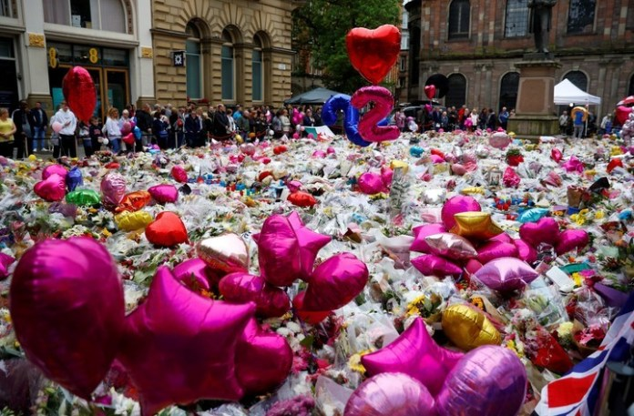 One of the tributes to the victims.
