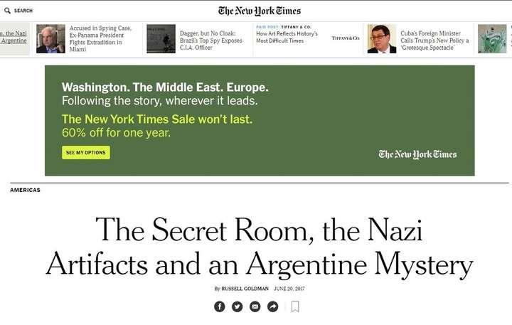 Tesoro nazi en Argentina: fuerte repercusión en los medios del mundo del tenebroso hallazgo