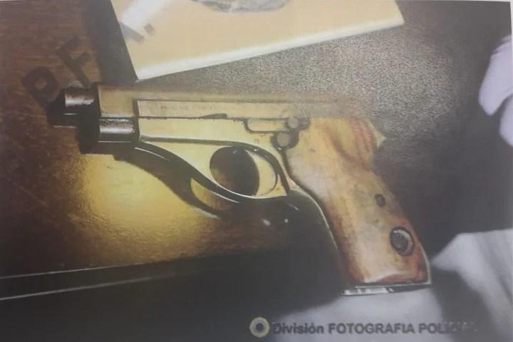 La pistola 22 con la que según la Justicia asesinaron al fiscal Nisman.
