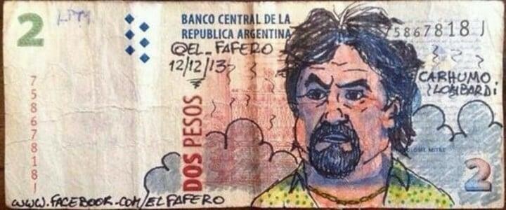 El billete de 2 pesos fue utilizado para memes y virales desde 2014