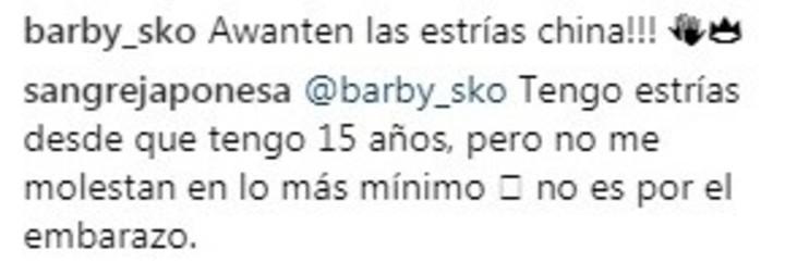 """Criticaron a la China Suárez por sus """"estrías"""" y ella contestó con altura"""