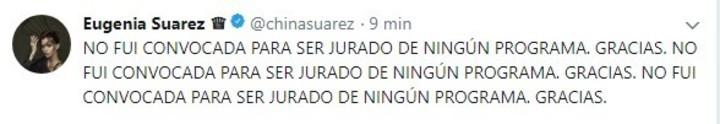 """¡Contundente! Habló la China Suárez ante la posibilidad de reemplazar a Pampita Ardohain en el """"Bailando 2018"""""""