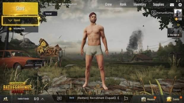 Antes de comenzar, cada jugador deberá editar su avatar de PUBG.