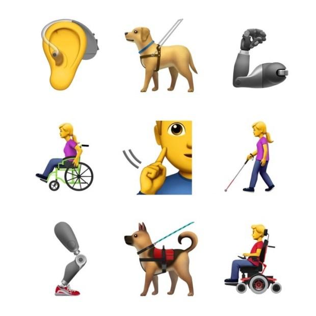 Algunos de los emojis propuestos por Apple (emojipedia)