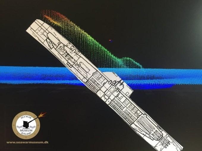 Registro del hallazgo del submarino alemán U-3523 (Museo Jutland).