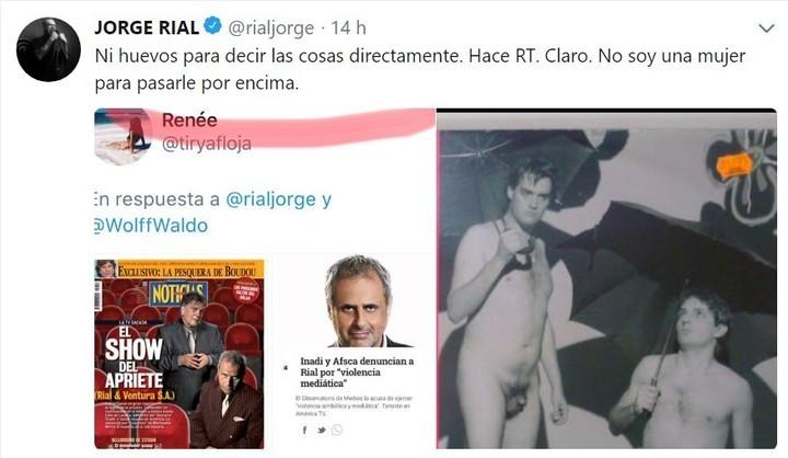 Rial enfureció por un retuit que le dio Pettinato a una tapa de la revista Noticias en su contra. Y le recordó las denuncias por acoso sexual.