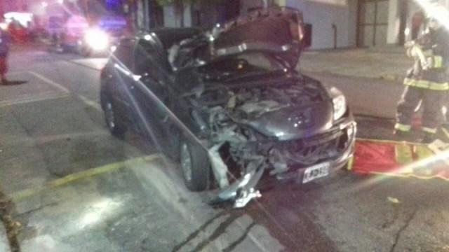 El auto en el que dos modelos persiguieron a dos motochorros en Balvanera