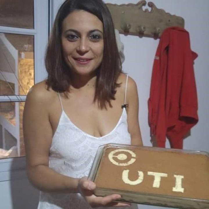 Luciana Dinardi fue baleada por su ex pareja y se recupera en el hospital. Foto: Facebook