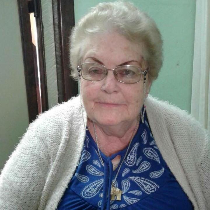 Mirta Falco (80), la jubilada asesinada a puñaladas junto a su marido en su casa de Mar del Plata.