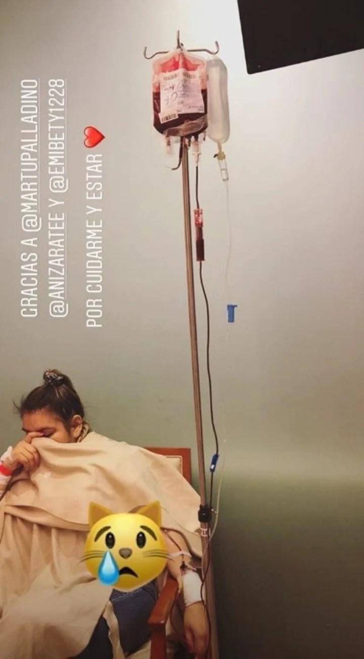 Morena Rial, internada (Instagram).