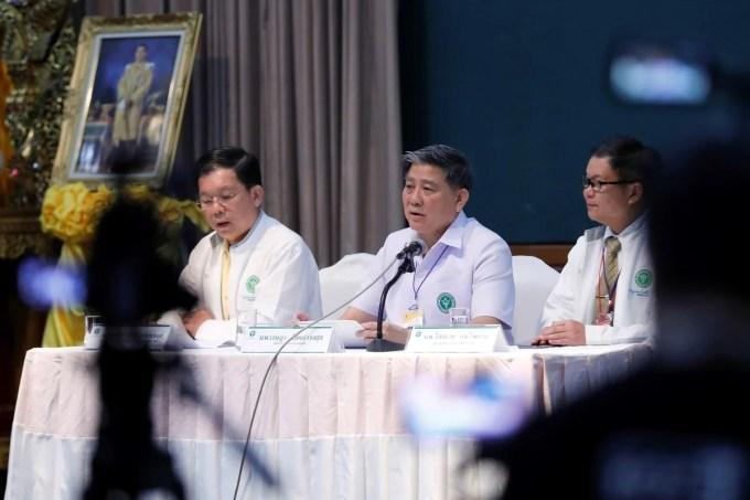 conferencia de prensa en un hospital de la provincia de Chiang Rai, en el norte de Tailandia, el martes 10 de julio de 2018. (AP)