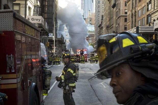 """La explosión fue """"bastante violenta"""", dijo un testigo. (Foto: AFP)"""