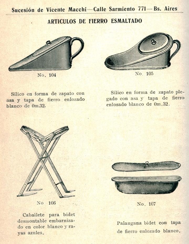 Antiguas promociones de bidets. Imágen: Museo del Agua y de la Historia Sanitaria de AySA.